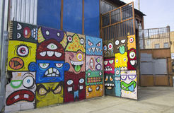 Mural at East Williamsburg neighborhood in Brooklyn Royalty Free Stock Image