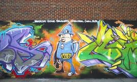 Mural at East Williamsburg neighborhood in Brooklyn Stock Photography