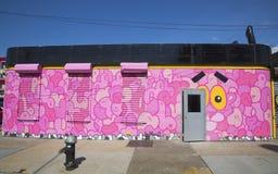 Mural at East Williamsburg neighborhood in Brooklyn Royalty Free Stock Photography