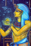 Mural of egyptian gods Royalty Free Stock Photo