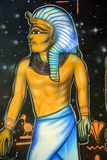 Mural of egyptian gods Royalty Free Stock Images