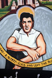 Mural of Elvis Stock Photo