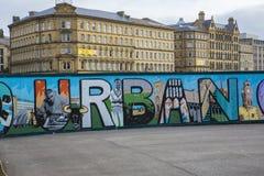 Mural en el parque Bradford de la ciudad Fotografía de archivo