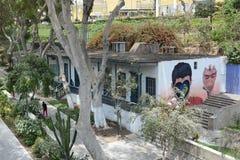 Mural en la pared Barranco Perú Fotos de archivo libres de regalías