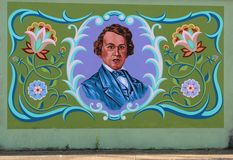 Mural Of A Famous Memphis Native On James Road in Memphis, Tennessee. Royalty Free Stock Photo
