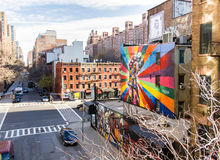 Mural. Famous Mural in New York City royalty free stock photos
