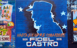Mural with Fidel Castro, Belfast, Northern Ireland Stock Photography