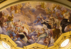 Mural,florence. Mural paint of an ancient church of florence Stock Photos