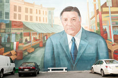 Mural with Frank Rizzo, former Philadelphia mayor royalty free stock photos
