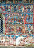 Mural Fresco Facade at Humor Monastery Royalty Free Stock Image
