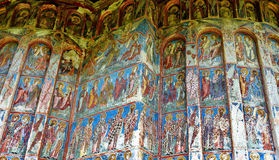 Mural Fresco at Humor monastery Stock Photos