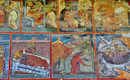 Mural Fresco at Humor monastery Royalty Free Stock Images