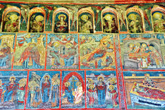 Mural Fresco at Humor monastery Royalty Free Stock Photo