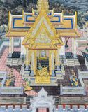 Mural fresco of Ramakien epic at the Grand Palace in Bangkok, Th Royalty Free Stock Photo