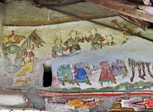 Mural Fresco in Romania Royalty Free Stock Photo