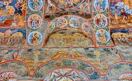 Mural Fresco in Romania Stock Photography