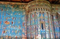Mural Fresco at Voronet Monastery Stock Photo