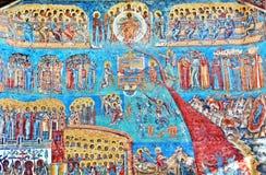 Mural Fresco at Voronet Monastery Stock Image