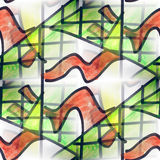 Mural green homes background seamless pattern Royalty Free Stock Photo