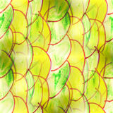 Mural green semi-circles on a yellow background Stock Image