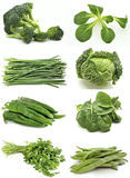 Mural of green vegetables Stock Photography