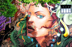 Mural in Haight Hasbury in San Francisco royalty free stock images