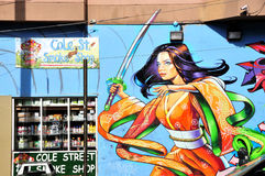 Mural in Haight Hasbury in San Francisco Stock Photography