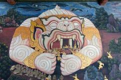 Mural of Hanuman Royalty Free Stock Image
