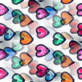 Mural heart background seamless pattern   texture Royalty Free Stock Images