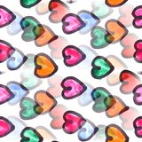 Mural heart background seamless pattern background  texture wall Royalty Free Stock Photos