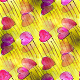 Mural hearts on white background seamless pattern Royalty Free Stock Images