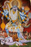 Mural of Hindu God Stock Photography