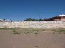 Worlds Largest Map of Route 66. A mural in Holbrook Arizona that is also the world`s largest map of route 66 royalty free stock photography