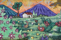 Mural on a house at Ataco in El Salvador Stock Photo