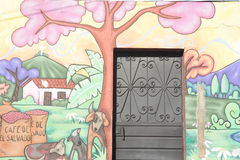 Mural on a house at Ataco in El Salvador Stock Photography