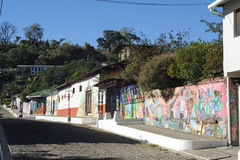 Mural on a house at Ataco in El Salvador Royalty Free Stock Images