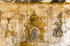 Mural inside Brihadishwara Temple in Tanjore - India Royalty Free Stock Image
