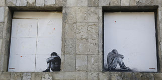 Mural τέχνη από Jef Aerosol σε Ushuaia, Αργεντινή Στοκ φωτογραφία με δικαίωμα ελεύθερης χρήσης