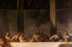 Mural of The Last Supper. A photo of a Mural of The Last Supper royalty free stock photos