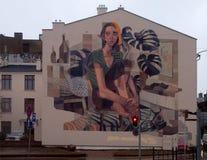 Mural of Lodz. Stock Photos