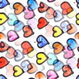Mural a lot of hearts background seamless pattern background te stock illustration