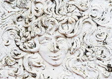 Mural of man or woman's face Royalty Free Stock Photography