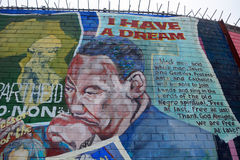 Mural with Martin Luther King, Belfast, Northern Ireland Stock Photography