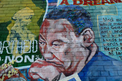 Mural with Martin Luther King, Belfast, Northern Ireland stock images