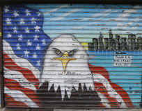 Mural in the memory of NYPD and FDNY personnel lost at September 11, 2001 Stock Photography