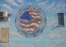 Mural in the memory of United Flight 93 in Brooklyn royalty free stock photography