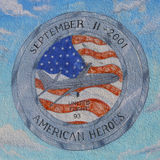 Mural in the memory of United Flight 93 in Brooklyn Stock Images