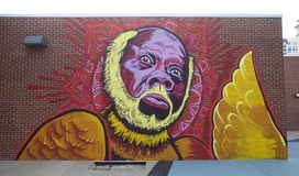 Rufus Thomas painting on Beale Street. Royalty Free Stock Images