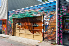 Mural in Mission District neighborhood in San Francisco Stock Photos