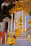 Mural mythology Buddhist religion. In the temple royalty free stock photos